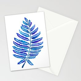 Fern Leaf – Navy Palette Stationery Cards