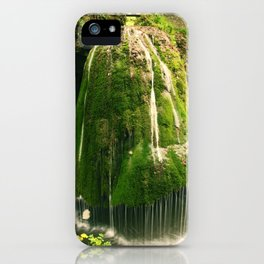 Beautiful unique waterfall in a forest, nature photography, waterfall, Romania iPhone Case