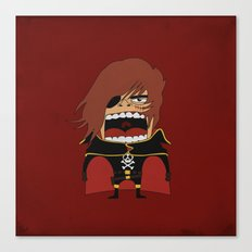 Screaming Captain Harlock Canvas Print