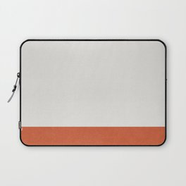 Burnt Orange Color Block Laptop Sleeve