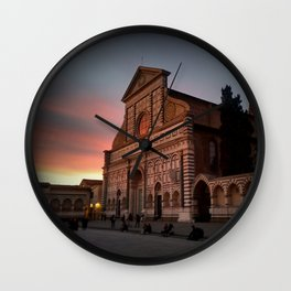 Santa Maria Novella Sunset Wall Clock