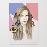 karen hallion Canvas Prints featuring Karen by Anya Timofeeva