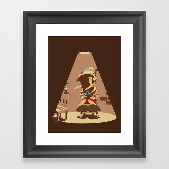 Nosey Interrogation Framed Art Print