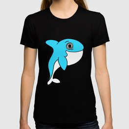 Lovely and funny whale drawing T-shirt