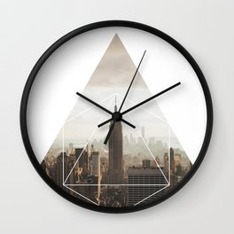 Empire State Building - Geometric Photography Wall Clock