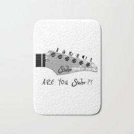 Are You Suhr?! (White) Bath Mat