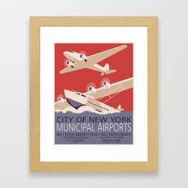 New York Airports Framed Art Print