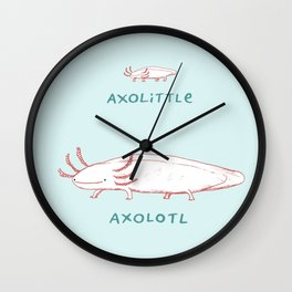 Axolittle Axolotl Wall Clock