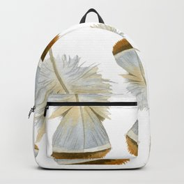 Pretty  Feathers, Seamless Watercolour Pattern Backpack