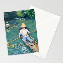 Gustave Caillebotte, Skiffs, 1877 Stationery Cards