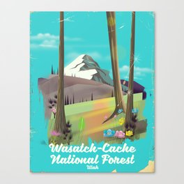 Wasatch-Cache National Forest Utah Canvas Print