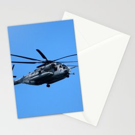 Marine Helicopter In Flight Stationery Cards