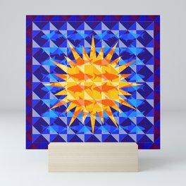 Sunsharks On Blue. Mini Art Print