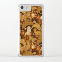 Mushroom Stitch Clear iPhone Case