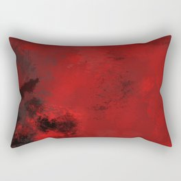 Red and Black Abstract Rectangular Pillow
