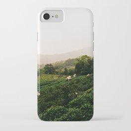 Taiwan - Maokong Mountain: Harvesting Green Tea iPhone Case