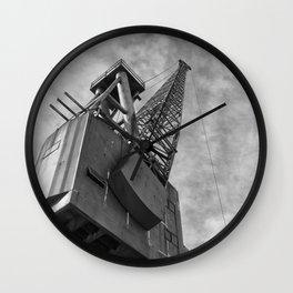 Ship Yard Crane Wall Clock