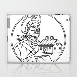 American Patriot House Mosaic Black and White Laptop & iPad Skin