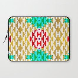 050 - traditional pattern interpretation with golden foil Laptop Sleeve