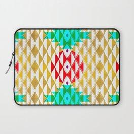 050 - traditional pattern interpretation with golden foil Laptop Sleeve
