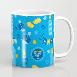 Happy Hanukkah Banner Pattern Coffee Mug