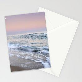 Moonrise. Mediterranean sea. At sunset. Marbella. Spain Stationery Cards