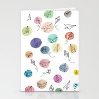 plane Stationery Cards featuring Plane by Infra_milk