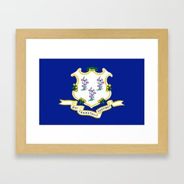 Musical State Flag of Connecticut Framed Art Print