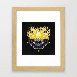 Moths to a Flame Framed Art Print