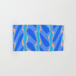 Blue Aqua Pink Crackle Minimal Hand & Bath Towel