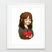 kili Framed Art Prints featuring Kili by angryorangecat