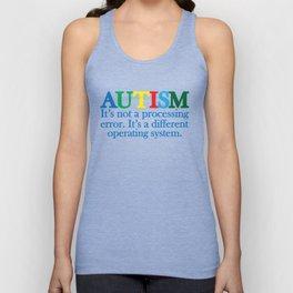 Autism Operating System Unisex Tank Top