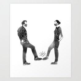 Footshake Art Print