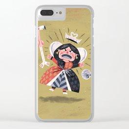 Queen of Hearts - Alice in Wonderland Clear iPhone Case