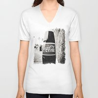 coca cola V-neck T-shirts featuring Coca-Cola closer by Vorona Photography