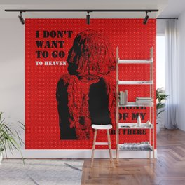 Oscar Wilde #7 I don't want to go to heaven Wall Mural
