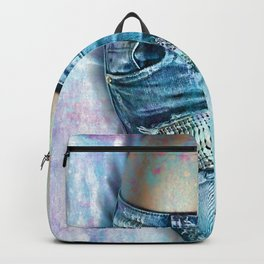 Close up of attractive woman on bed Backpack