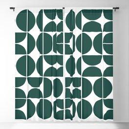 Mid Century Modern Geometric 04 Dark Green Blackout Curtain