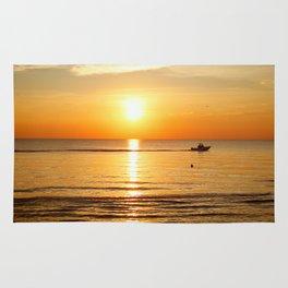 Yellow Sunset Ocean Rug