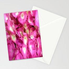 Perky Pink Hydrangea Stationery Cards