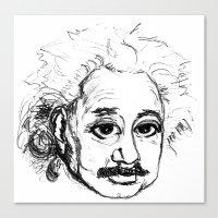 chibi Canvas Prints featuring Chibi Einstein by Hazel Bellhop