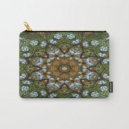 Yellow Tree Flower Kaleidoscope Art 5 Carry-All Pouch