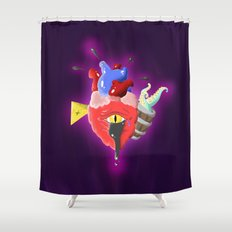 Cursed Heart Shower Curtain