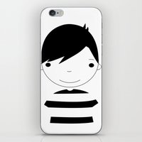boy iPhone & iPod Skins featuring Boy by stavrina inno