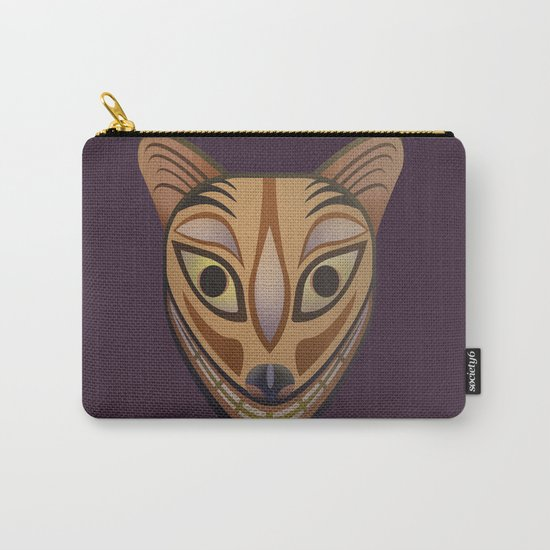 Feline tribal mask Carry-All Pouch