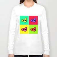 avocado Long Sleeve T-shirts featuring Avocado  by Scout Garbaczewski