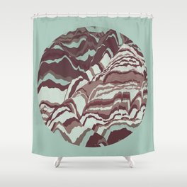 TOPOGRAPHY 002 Shower Curtain