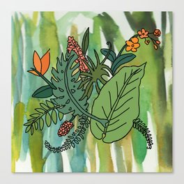 jungle leaves Canvas Print
