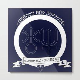 Uranus/Neptune Duo Crest Metal Print