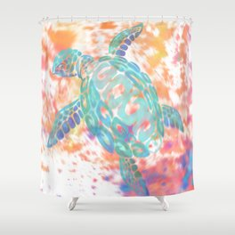 Turtle Pink Shower Curtain